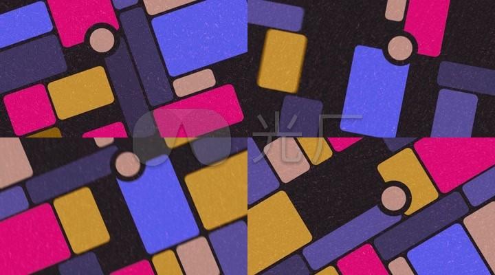 卡通儿童彩色方块