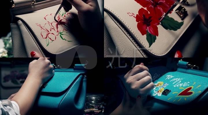品牌潮流奢侈品与艺术油画创作设计文化结合