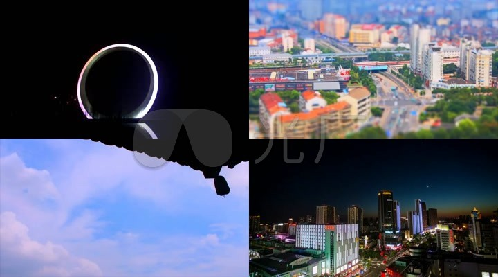 江苏常州城市地标建筑延时摄影风光
