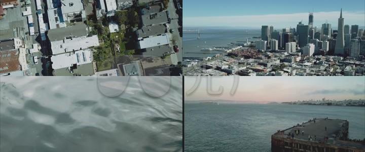 世界各地城市航拍-空中视觉