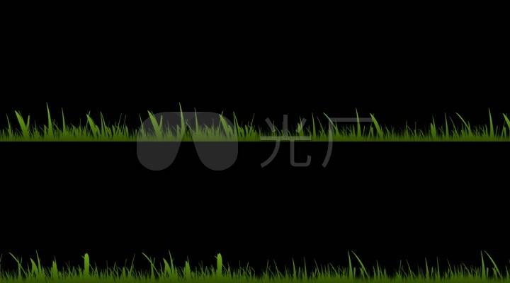 透明通道草丛视频素材