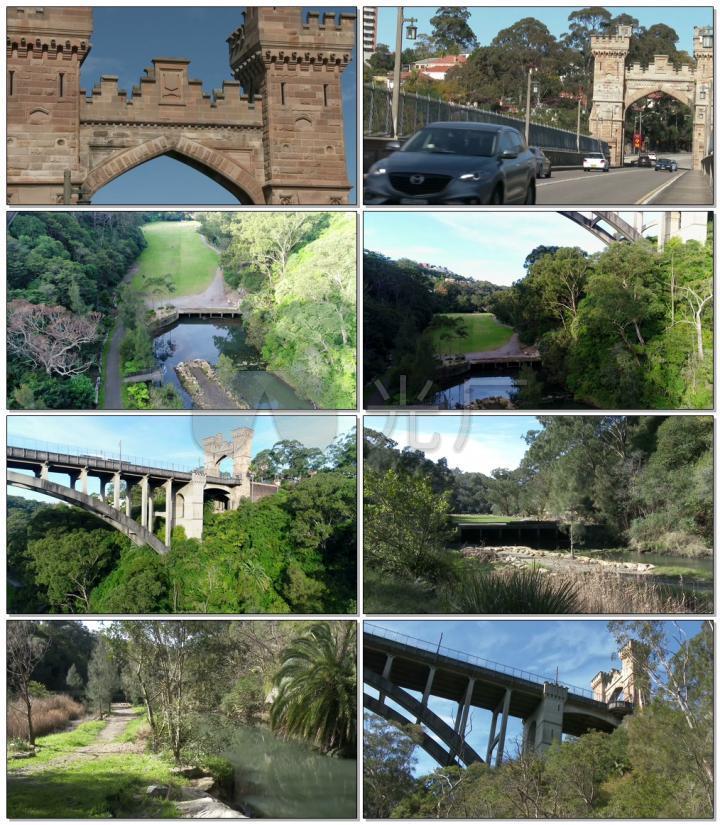 4K悉尼城市悬索桥北桥公路实拍