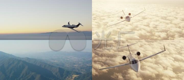 飞机航空镜头