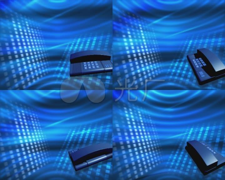 蓝色电话旋转背景电话热线背景