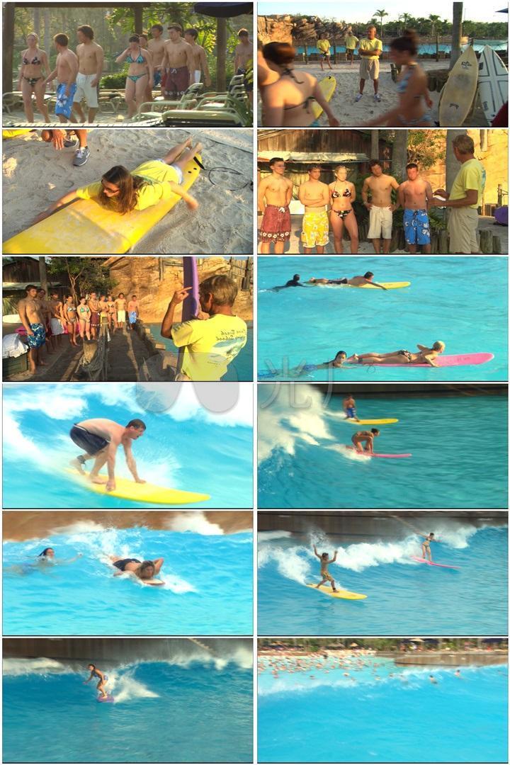 水上滑板海浪波浪