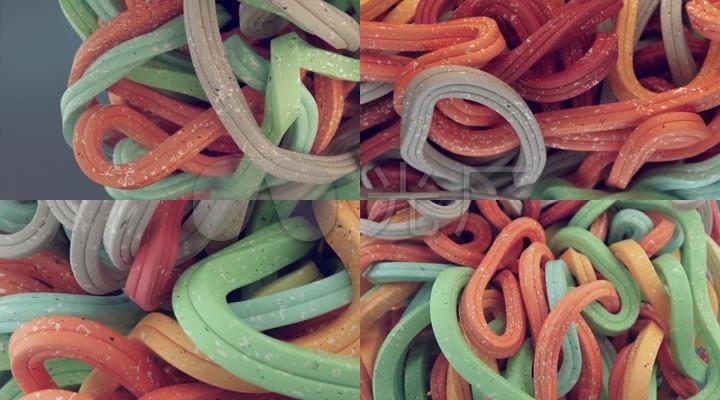 彩色长条海面交织在一起