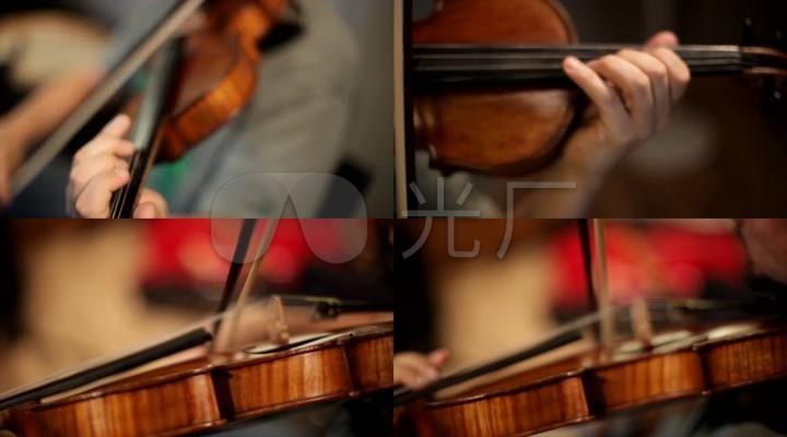 小提琴演奏特写