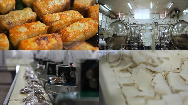 豆制品豆腐干食品生产实拍