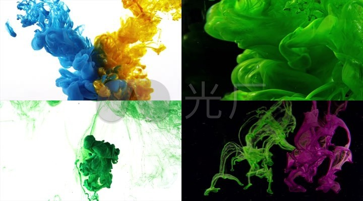 震撼色彩创意水墨