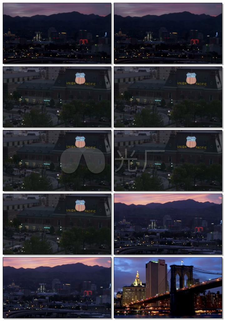 城市夜景灯光城市风景4K高清