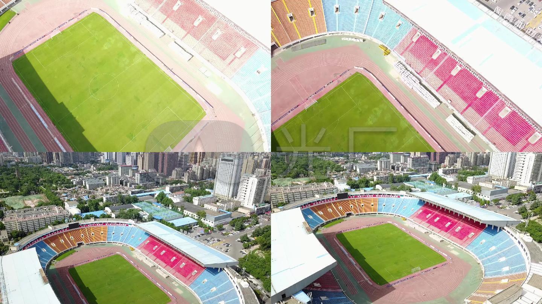 航拍陕西省体育场