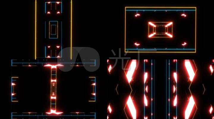 动感节奏电子闪烁线条电子抽象背景