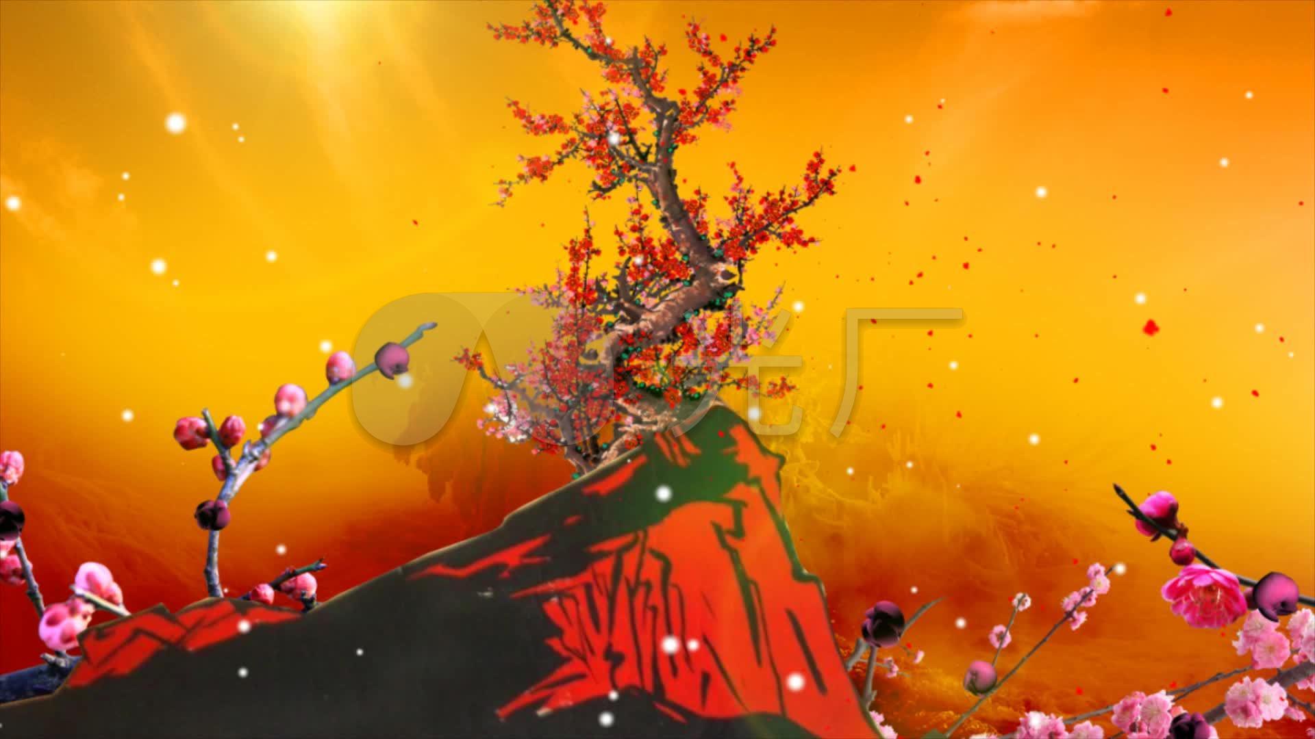 红梅赞配乐高清_1920X1080_素材视频视频下莉刺视频图片