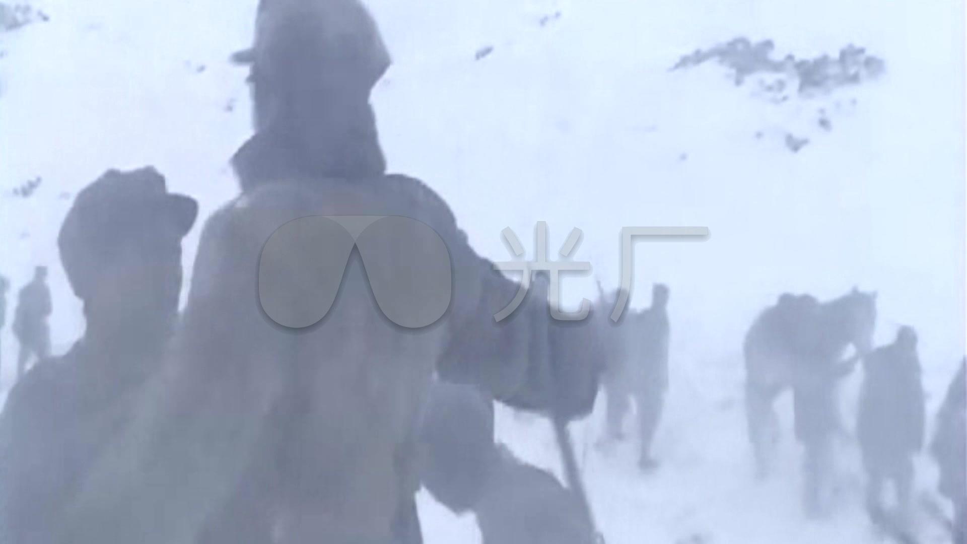 红歌雪山过素材_1920X1080_高清红军活扣下视频视频图片