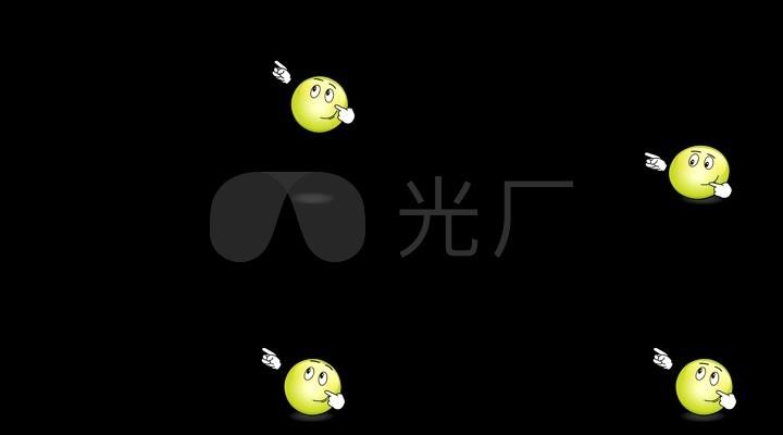 卡通emoji表情素材动态表情04_1920X1080_高起有视频包有落落落落图片