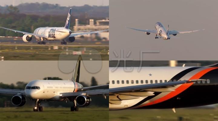 客机飞机起飞降落滑行机场跑道10542图片