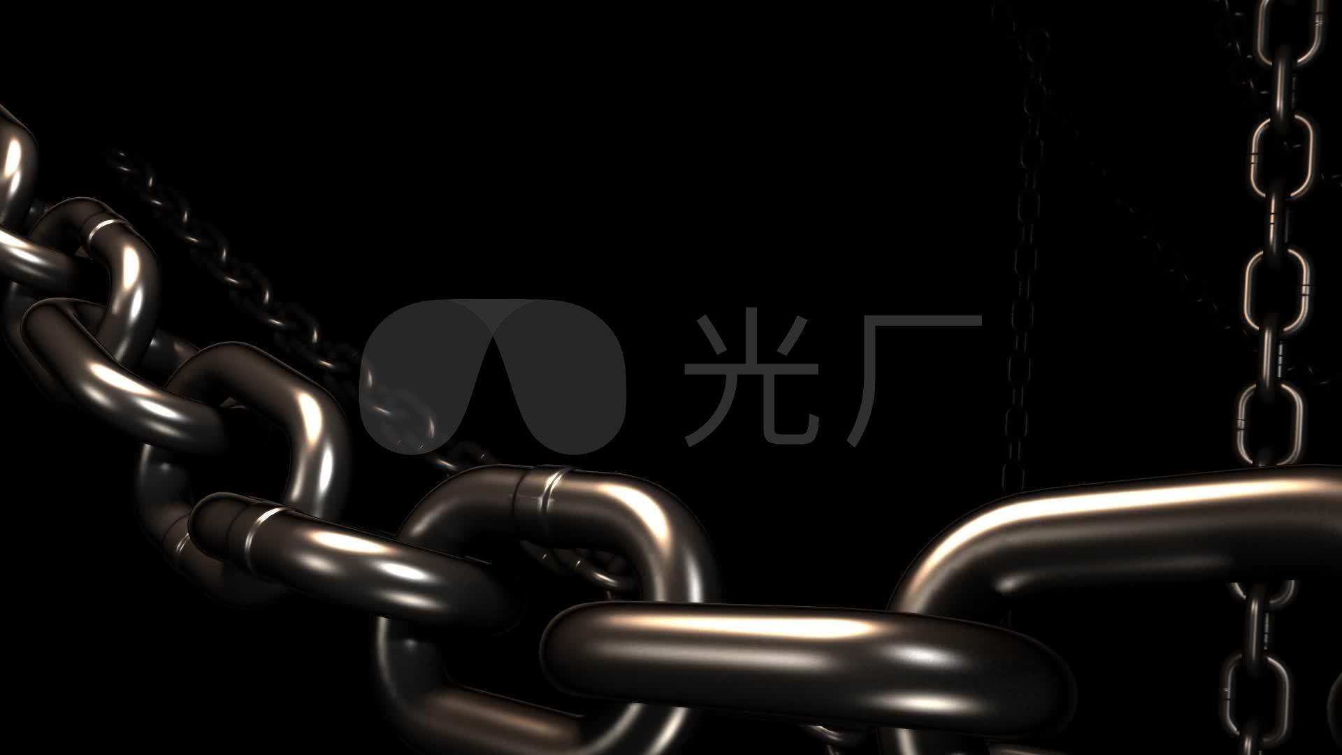 梯形链条素材3d铁链黑白金属_1920X1080histeq金属绘制图片