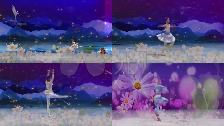 春天的芭蕾常思思歌曲伴奏舞台背景led