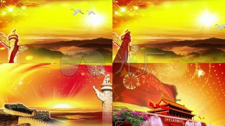 歌曲《我和我的祖国》背景视频_1920X1080_