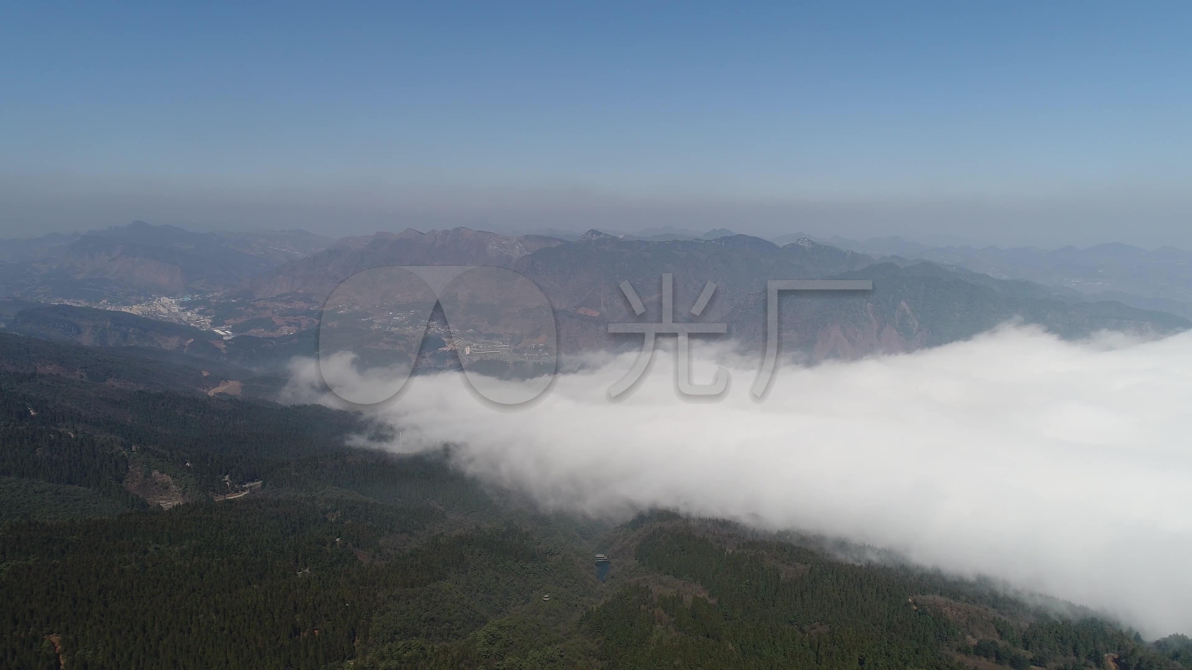 贵州玉舍国家森林公园滑雪场航拍素材