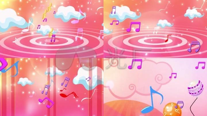 可爱悬挂的音符 卡通音乐符号