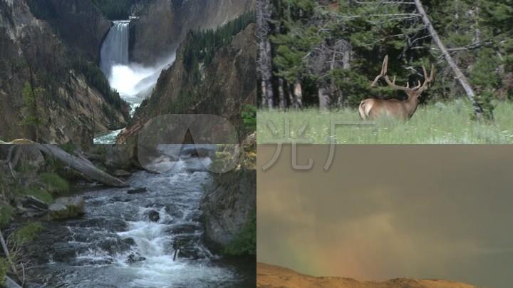 風景自然類/河流/下雨/樹木_1920x1080_高清視頻素材