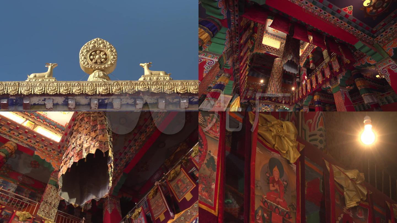 藏族寺院内部装饰