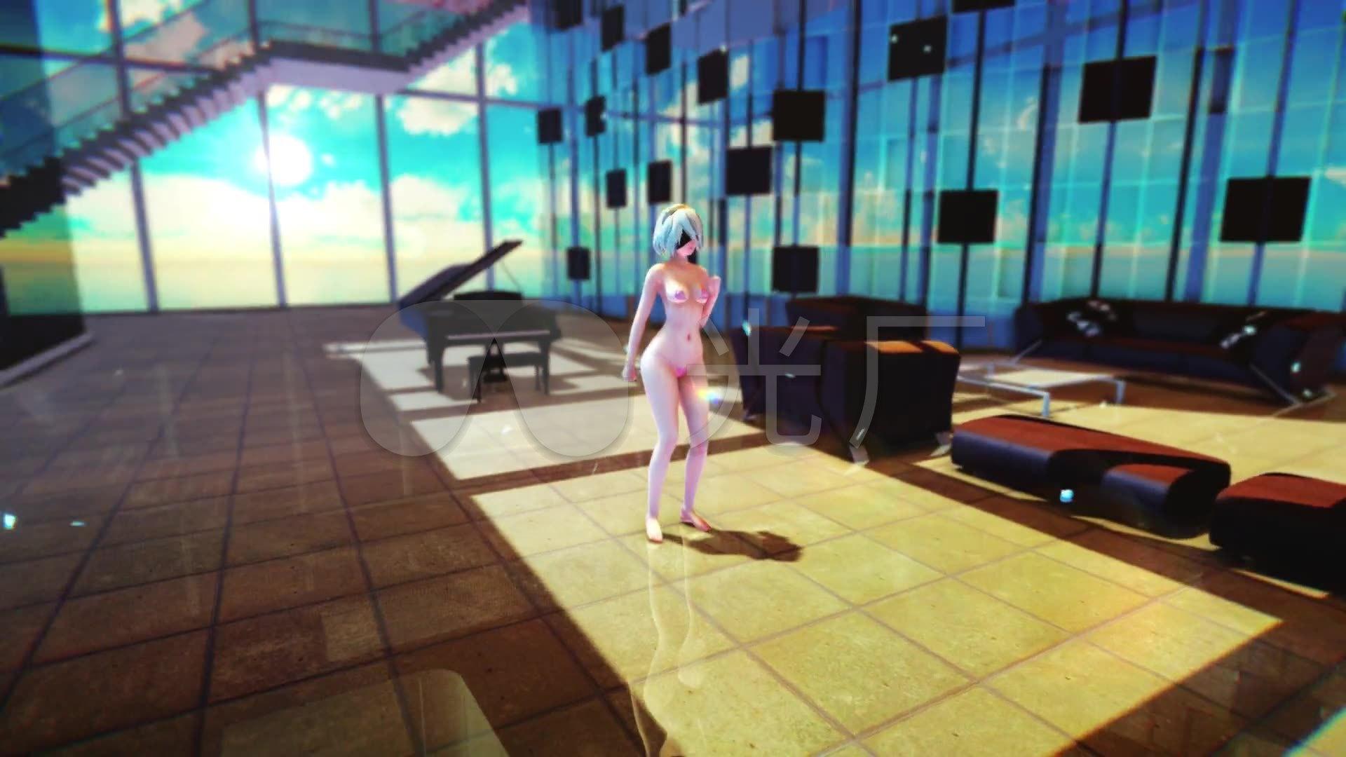 尼尔纪元机械高清热舞_1920X1080_性感黑色性感视频台t