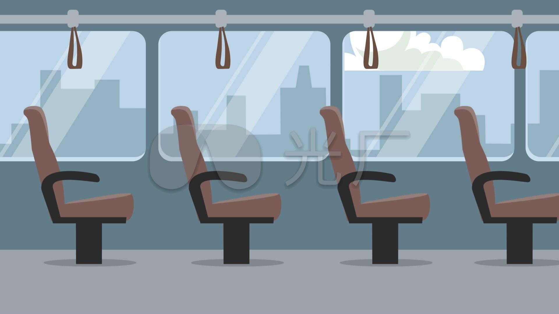 mg立体高清公交车_1920X1080_素材视频动画视频折纸素材图片