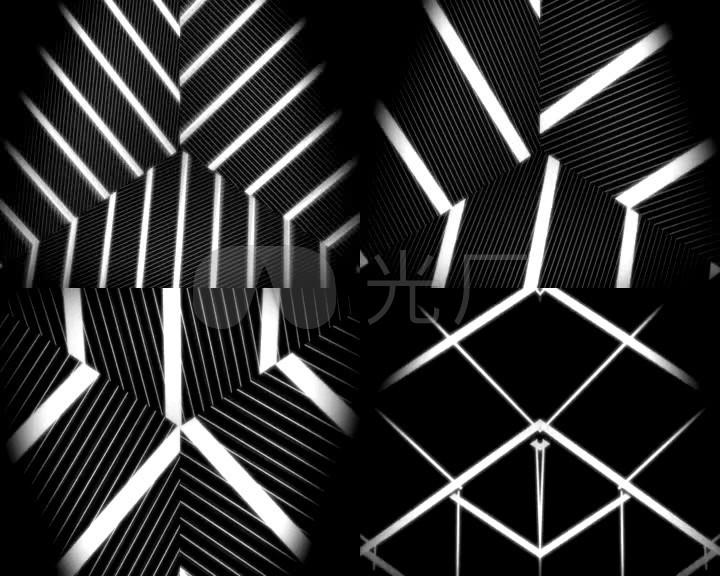 时尚背景黑色炫目黑白线条摇滚