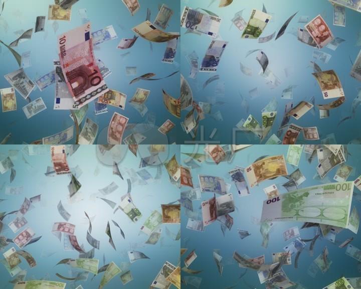 钞票从天而降钞票满天飞现金雨天上掉