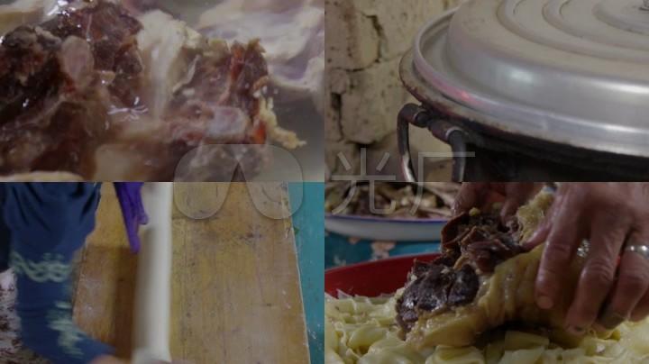 美食v美食煮视频擀面草原那仁藏族羊肉宽面_1座杰魔羊肉图片