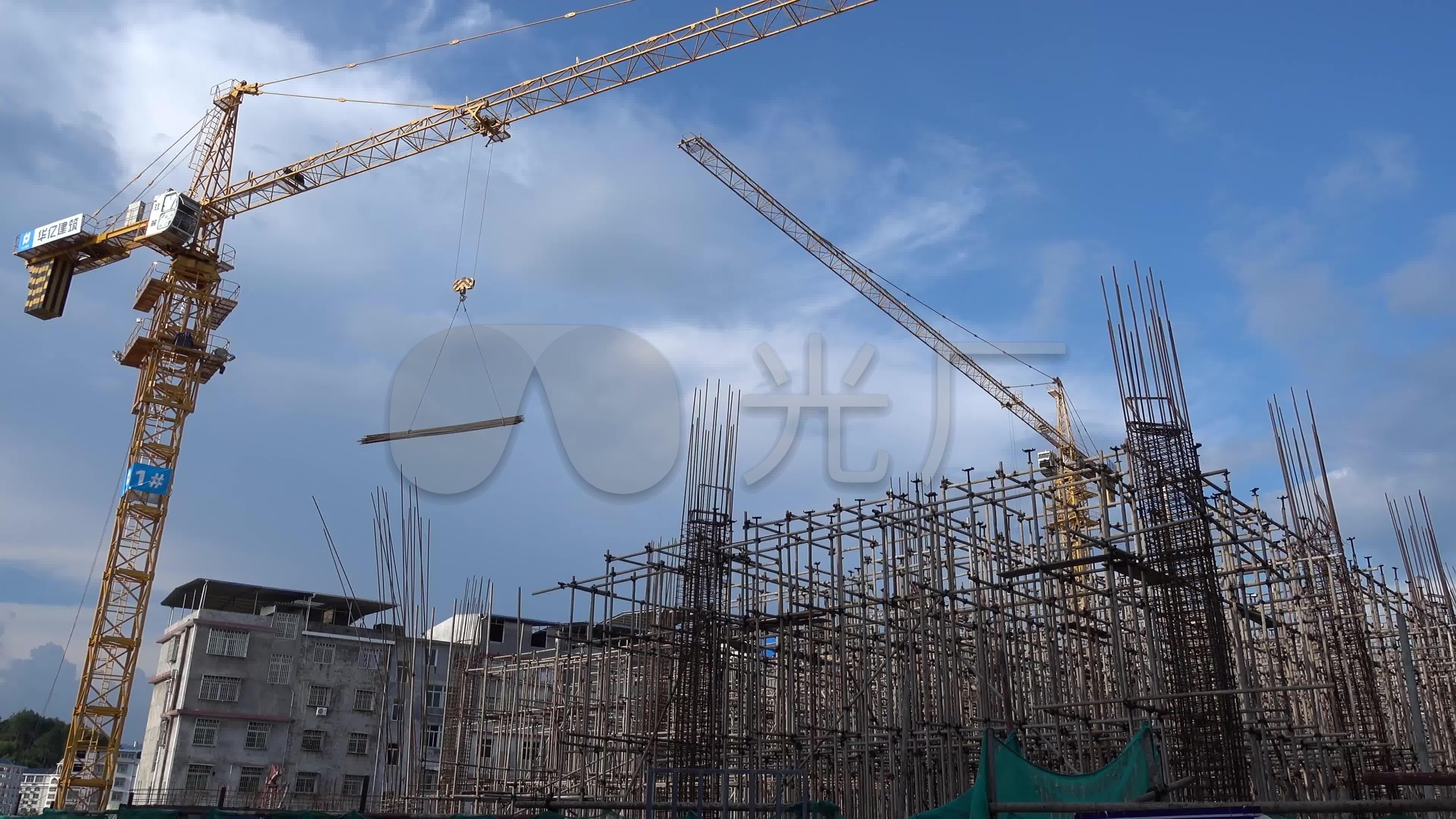 住房塔吊适用房廉租房农贸市场施工建设电子_香烟视频经济图片