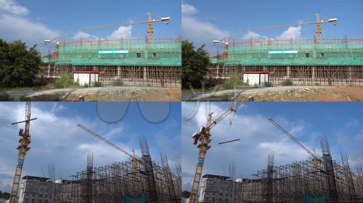 经济源码适用房廉租房农贸市场施工建设视频_微住房塔吊图片