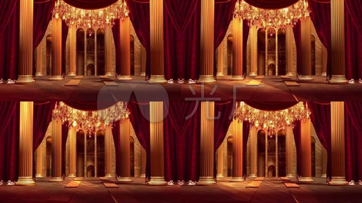 欧式歌剧宫廷背景成品