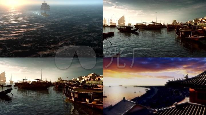 古代码头码头海上丝绸之路丝绸之路船历史港口小渔村古船船只渔民