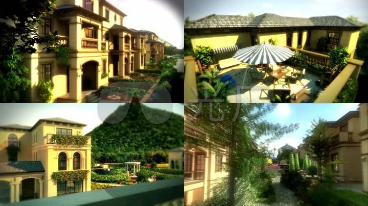 3d三维空中花园景观泳池游泳别墅图片