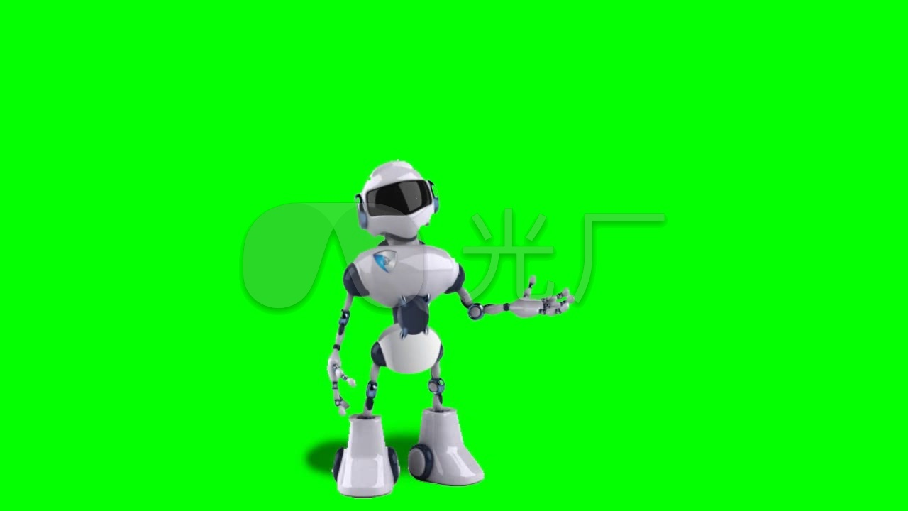 绿幕智能机器人_1280X720_高清视频素材下载