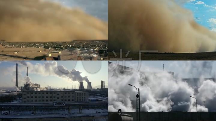 地球生态危机,环境污染,环保宣传视频素材