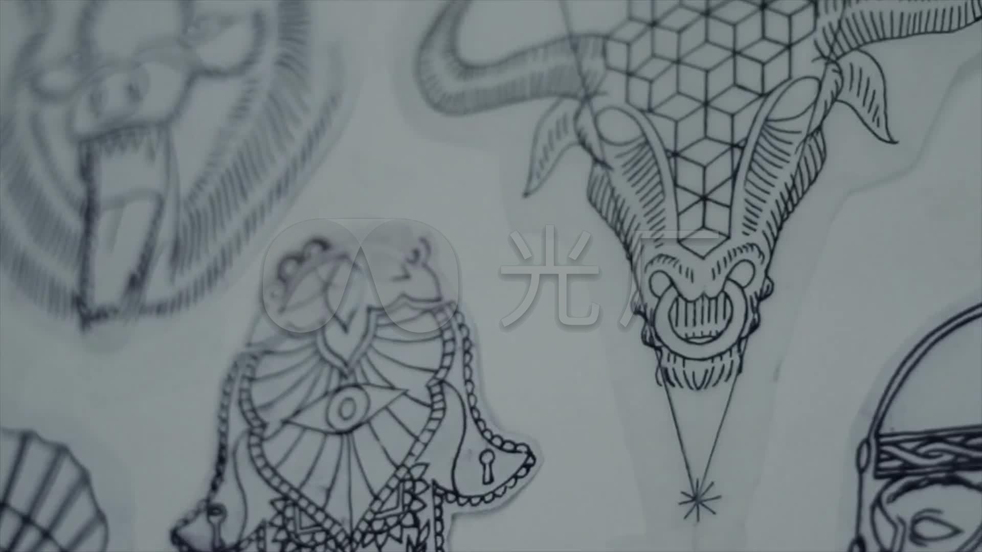 纹身图案选择设计修改纹身艺术画稿_1920x1080_高清
