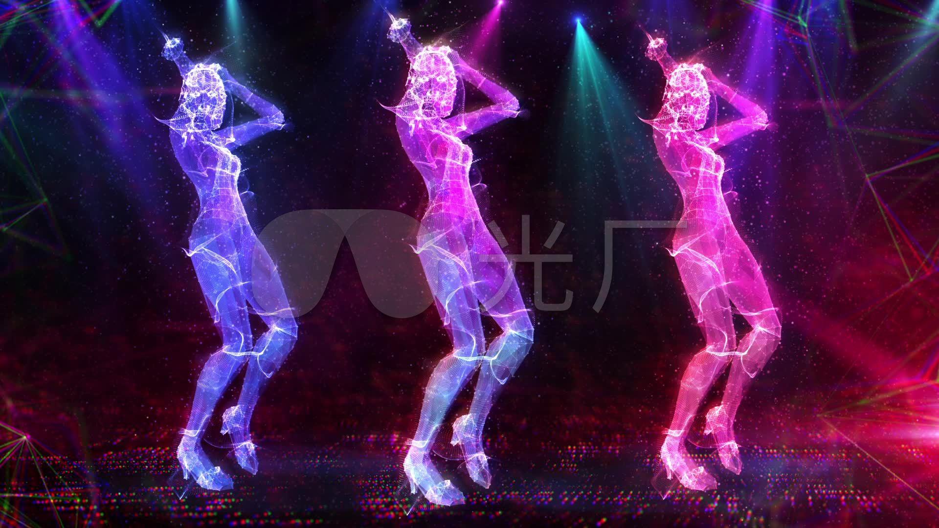 高清下图女跳舞_1920X1080_性感动态全息素材性感美女v高清护士服视频图片