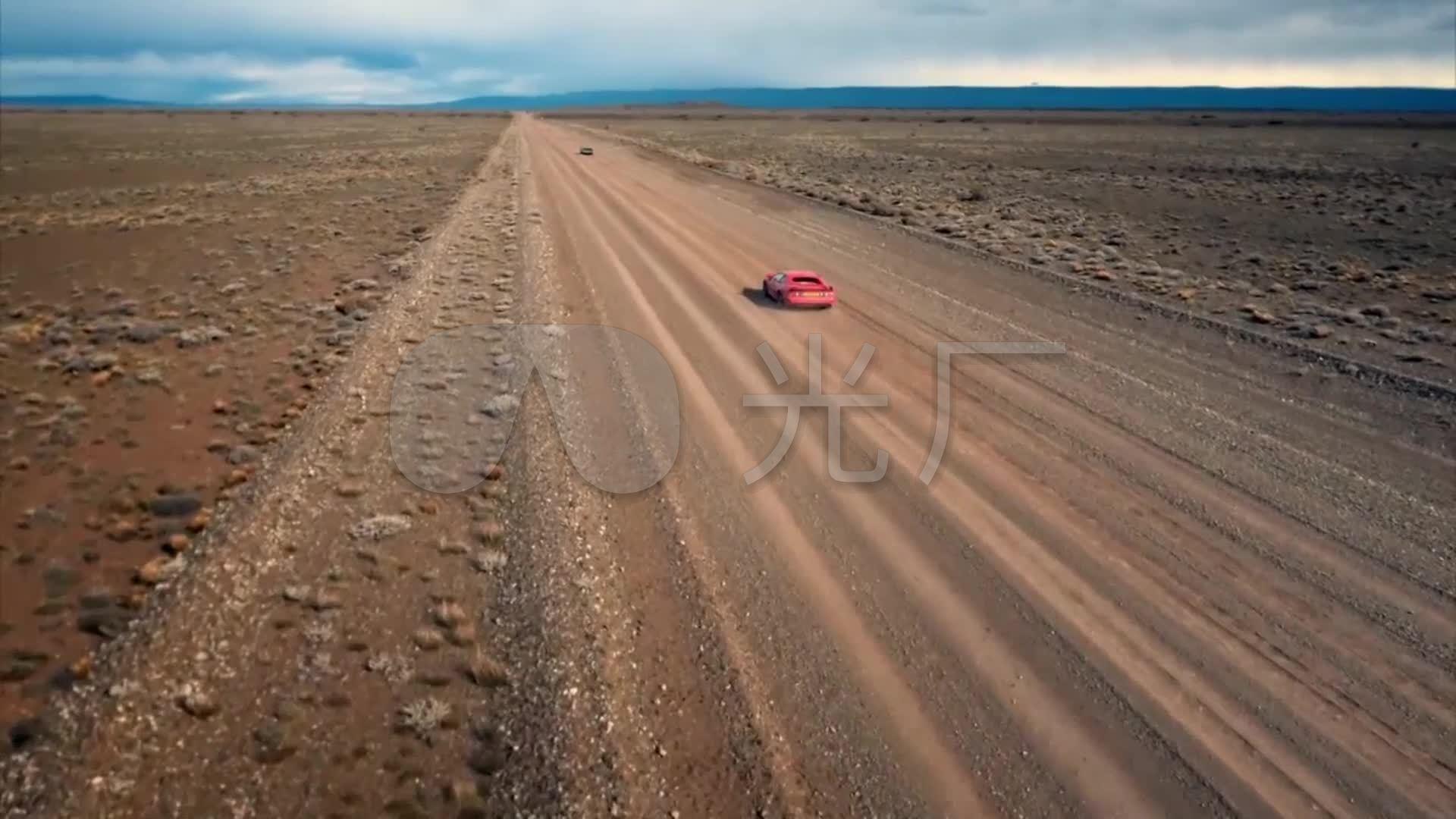 航拍戈壁滩素材沙漠越野视频公路_航拍视频_跑车赛车乌海图片