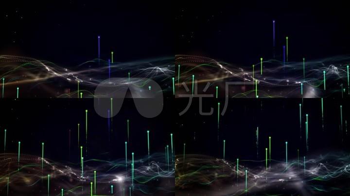 素材枸杞光绘上升光线led大屏幕背景粒子黑舞台包装设计哪家好图片