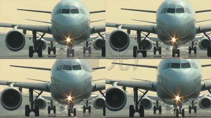 大客机准备起飞写意机场运输飞机_1920X108中国画技法民航苏允波图片