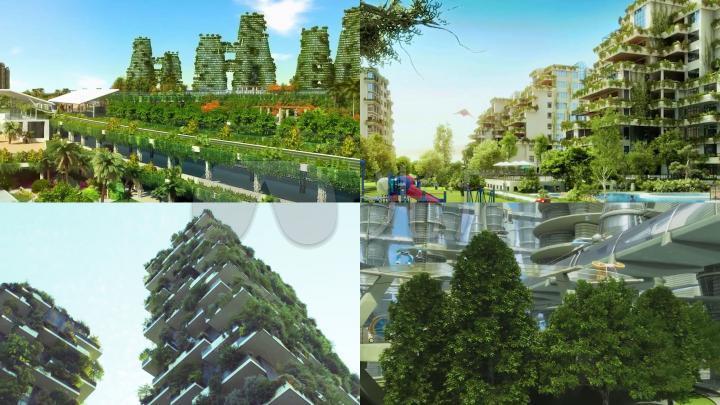 绿色建筑花园城市垂直森林合集