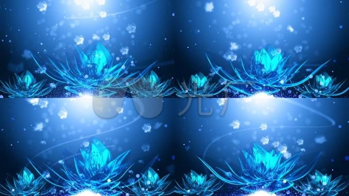 冰蓝水晶花