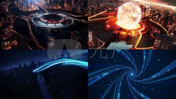 地球大数据互联网未来科技城市光线