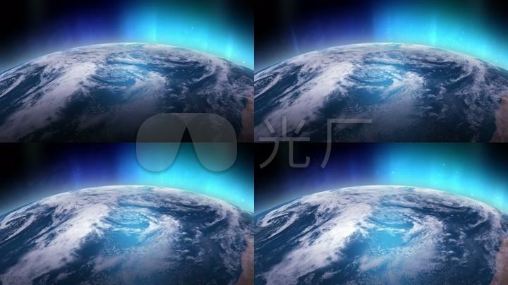 发光地球背景