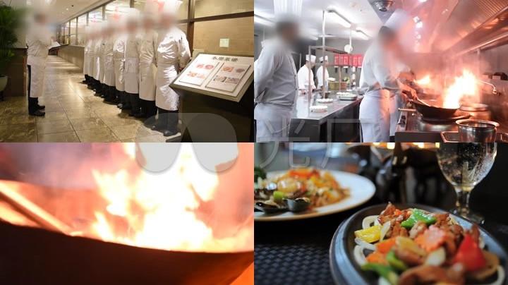 厨师炒菜颠锅视频