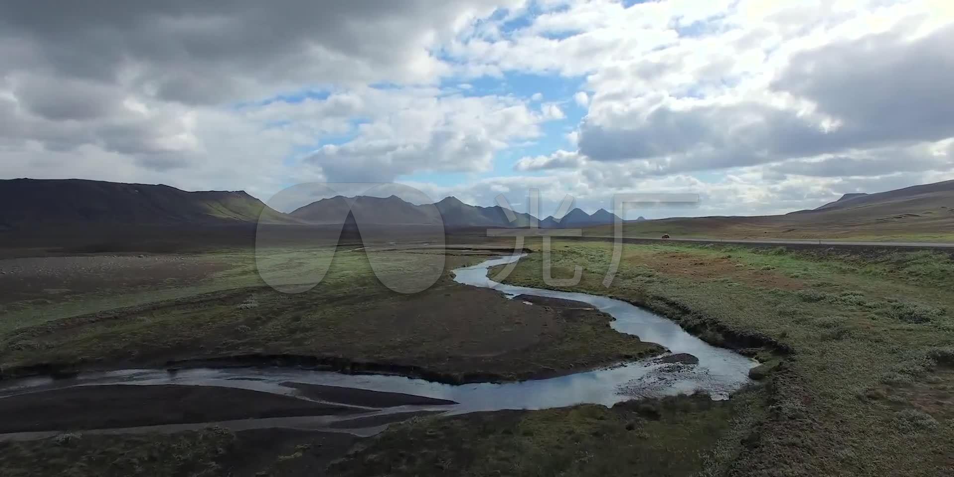 冰岛雪地雪山草原河流云层自然风光_1920X9音视频伪抖图片